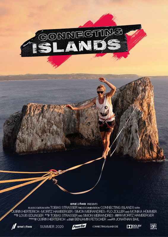 connecting islands slackline